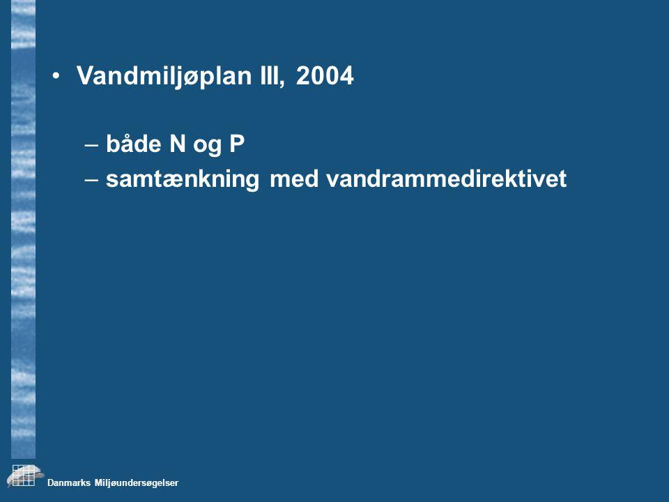 Vandmiljøplan III, 2004 både N og P