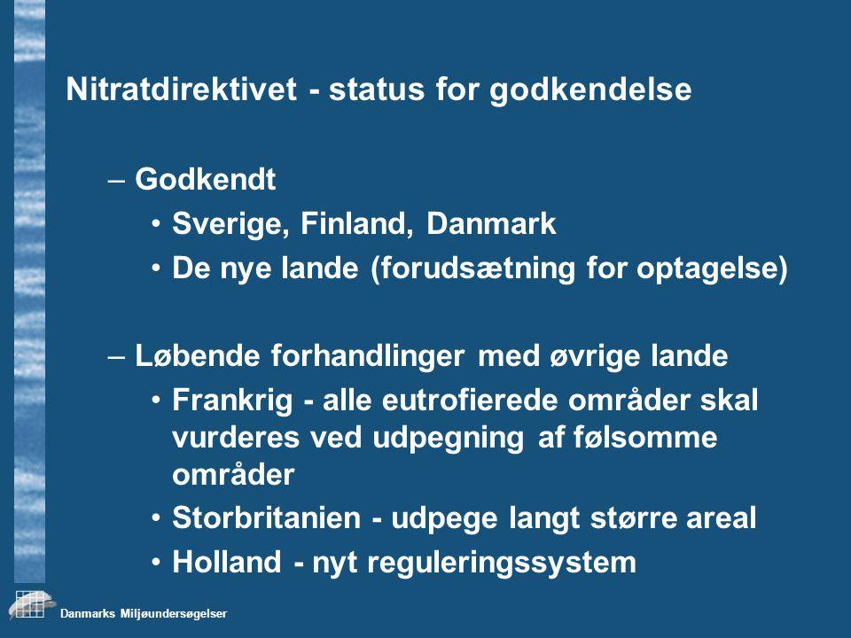 Nitratdirektivet - status for godkendelse