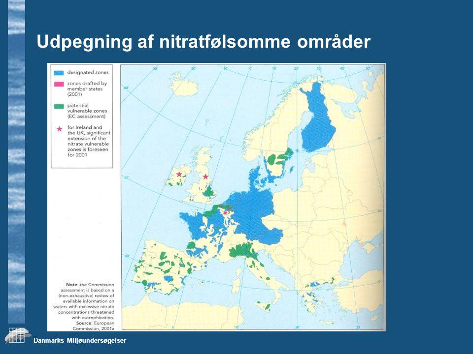 Udpegning af nitratfølsomme områder
