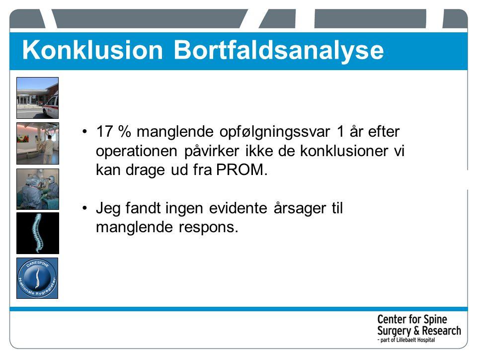 Konklusion Bortfaldsanalyse