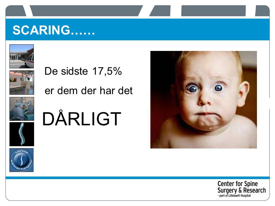 SCARING…… De sidste 17,5% er dem der har det DÅRLIGT