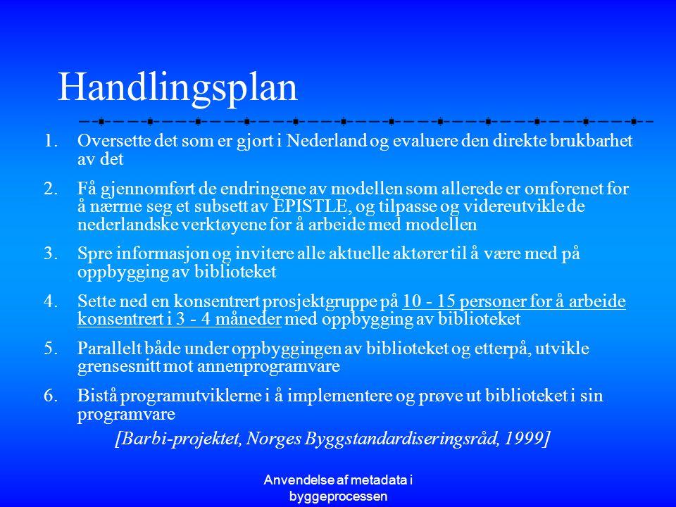 Handlingsplan Oversette det som er gjort i Nederland og evaluere den direkte brukbarhet av det.