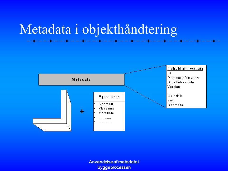 Metadata i objekthåndtering