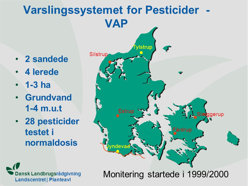 Varslingssystemet for Pesticider - VAP