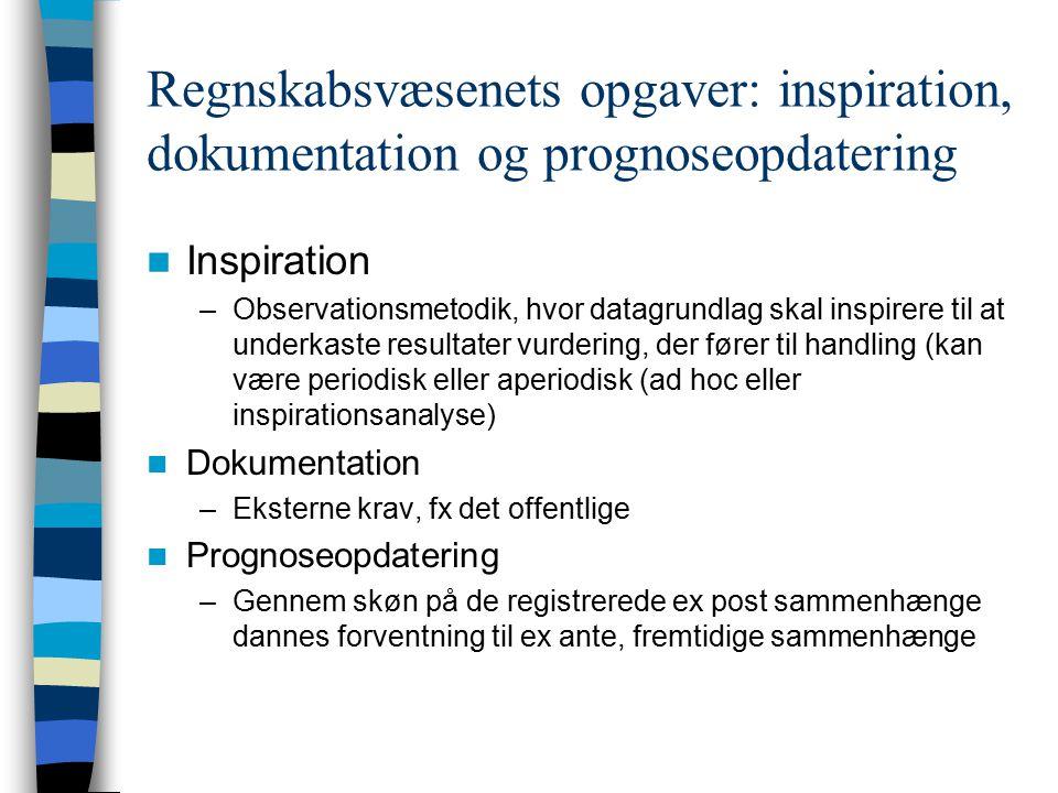 Regnskabsvæsenets opgaver: inspiration, dokumentation og prognoseopdatering