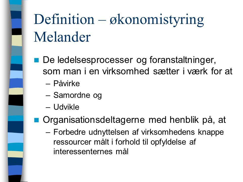 Definition – økonomistyring Melander