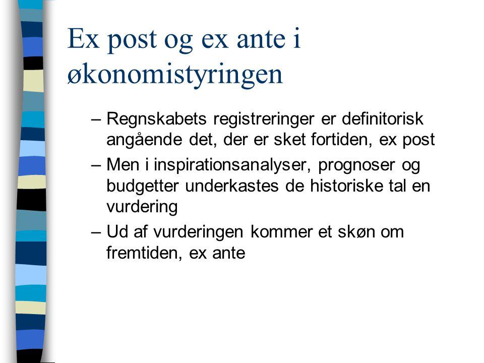 Ex post og ex ante i økonomistyringen