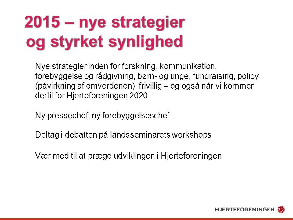 2015 – nye strategier og styrket synlighed