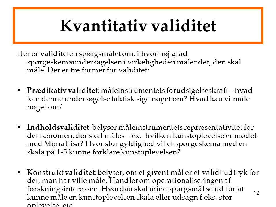 Kvantitativ validitet