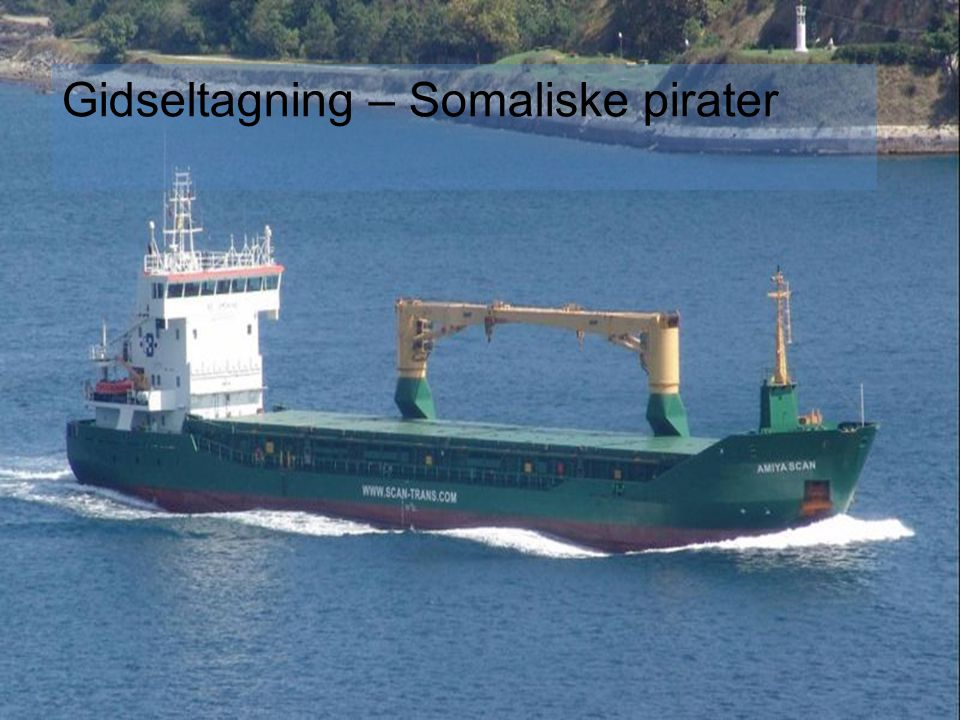 Gidseltagning – Somaliske pirater