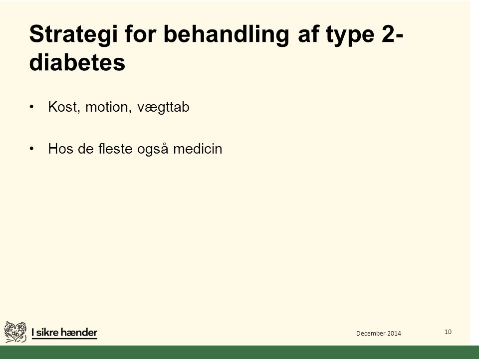 Strategi for behandling af type 2-diabetes