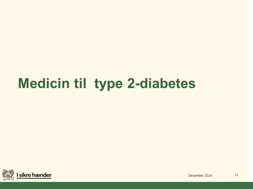 Medicin til type 2-diabetes