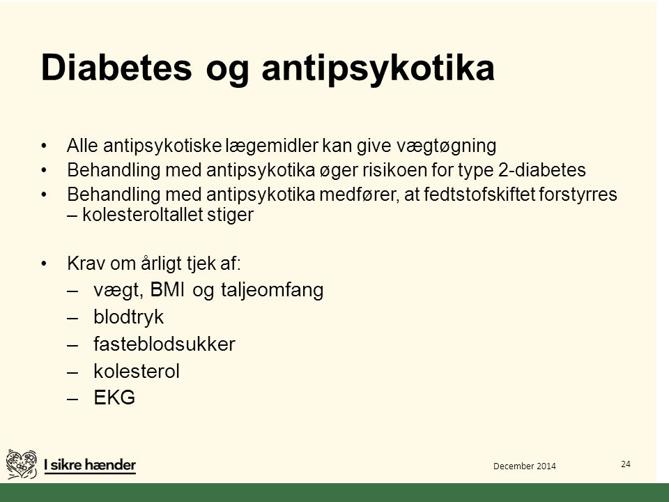 Diabetes og antipsykotika