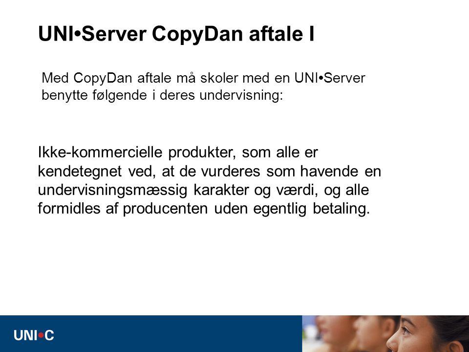 UNI•Server CopyDan aftale I