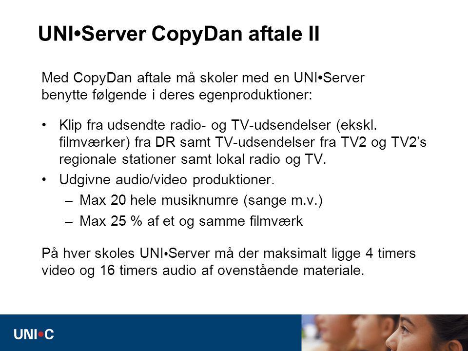 UNI•Server CopyDan aftale II