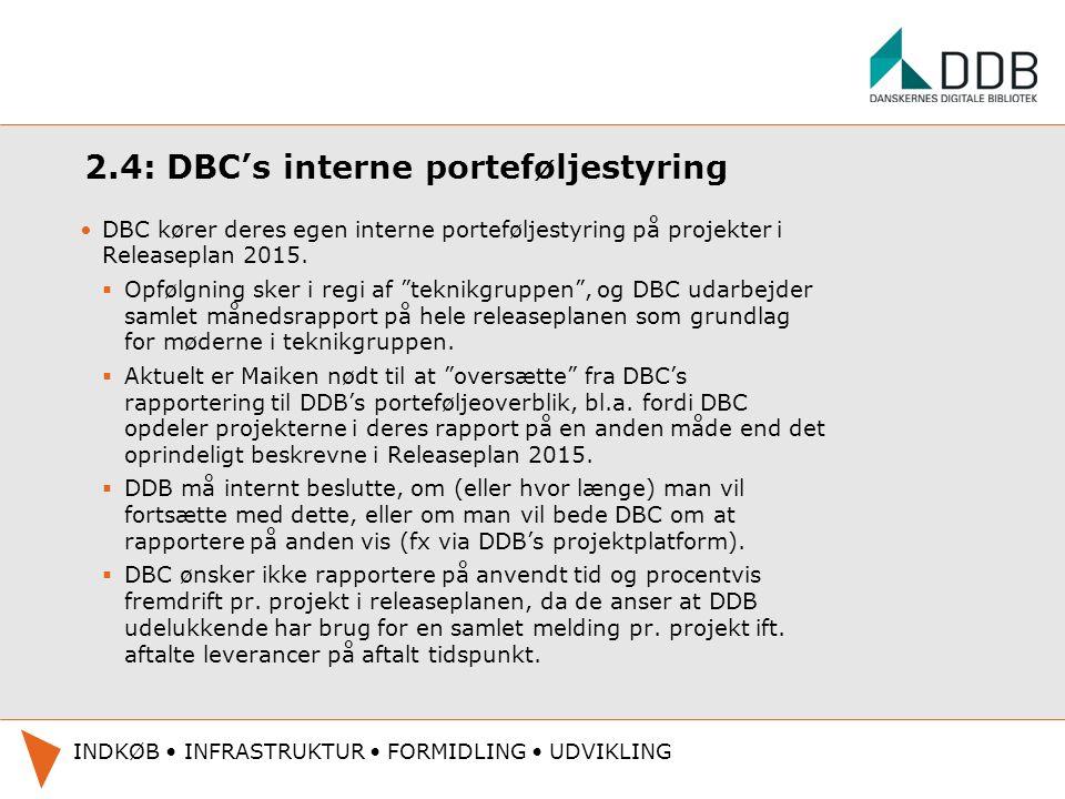 2.4: DBC's interne porteføljestyring