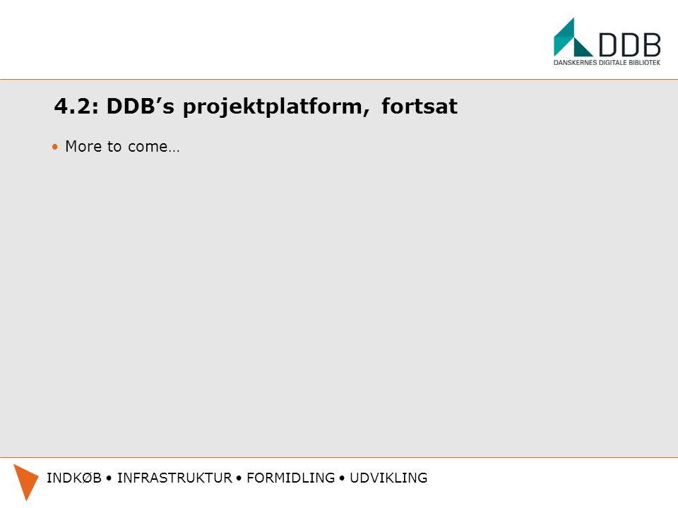 4.2: DDB's projektplatform, fortsat