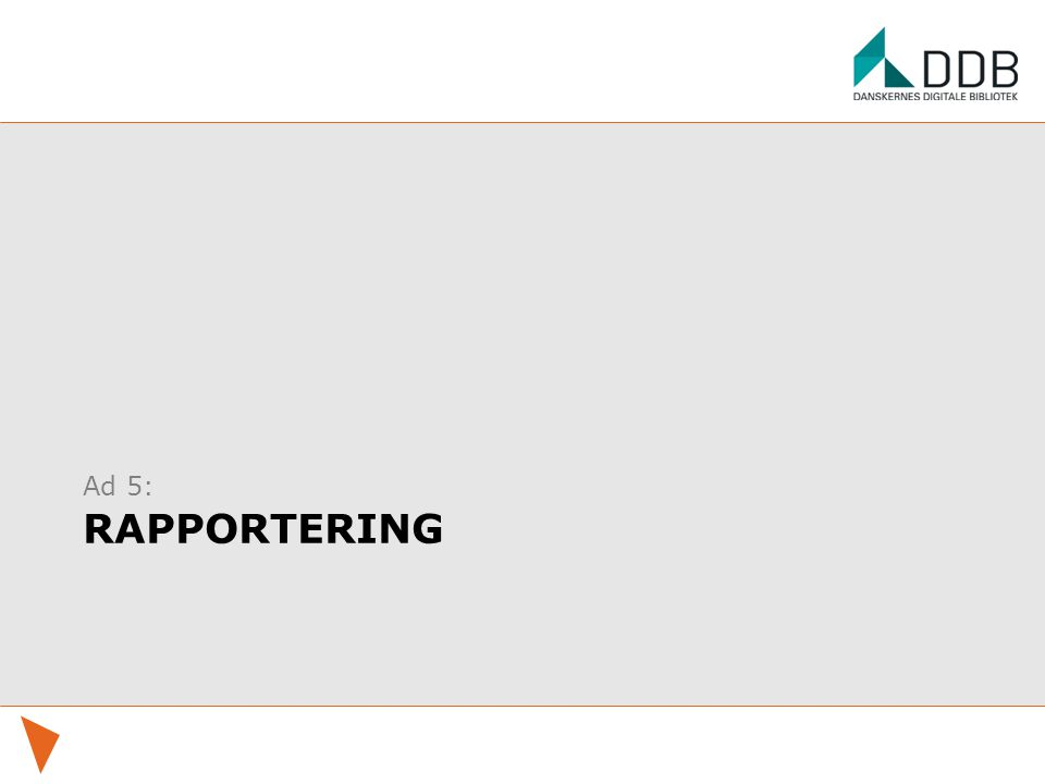 Ad 5: rapportering