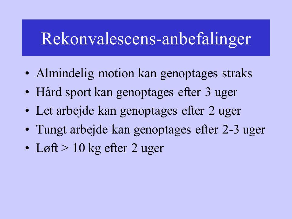 Rekonvalescens-anbefalinger