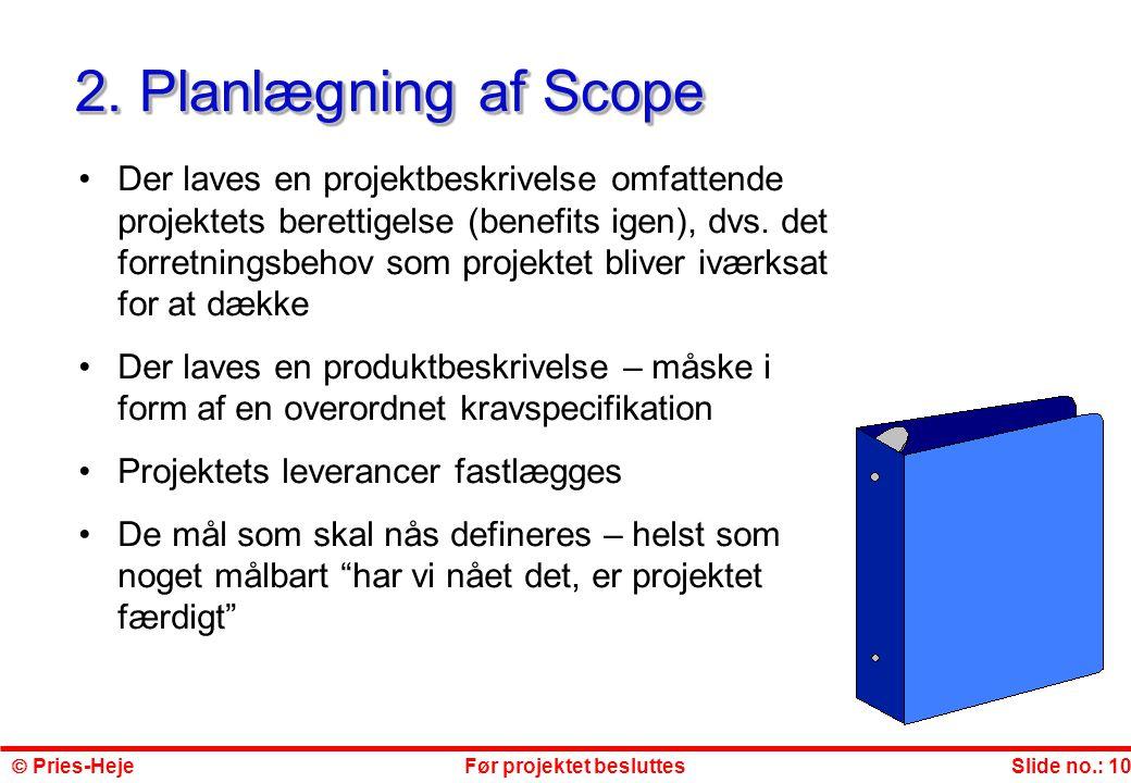 2. Planlægning af Scope