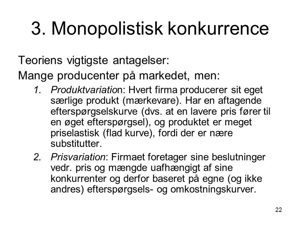 3. Monopolistisk konkurrence