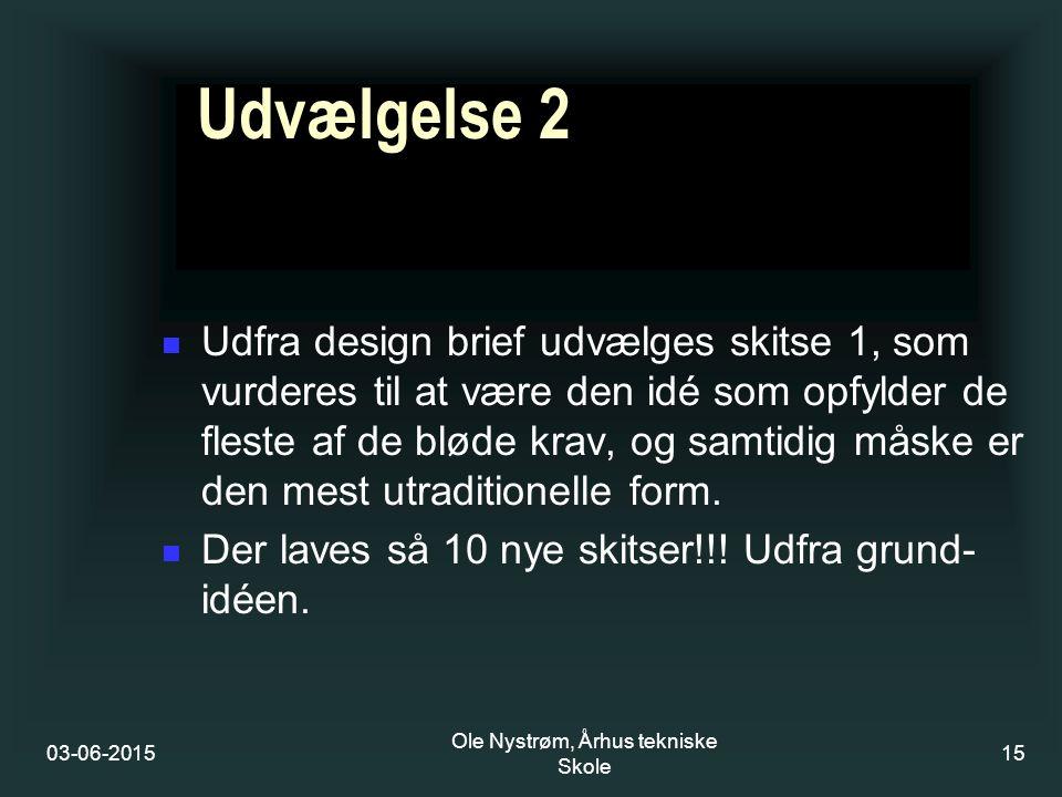 Ole Nystrøm, Århus tekniske Skole