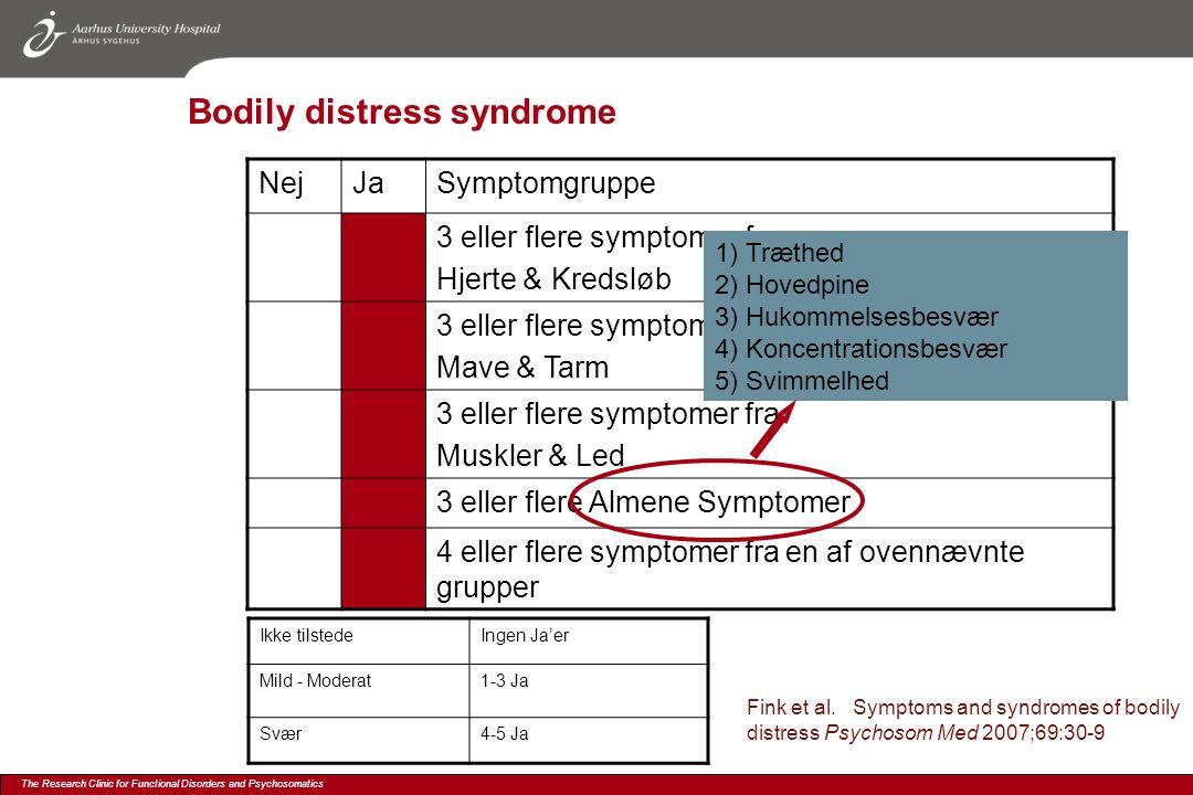 Bodily distress syndrome