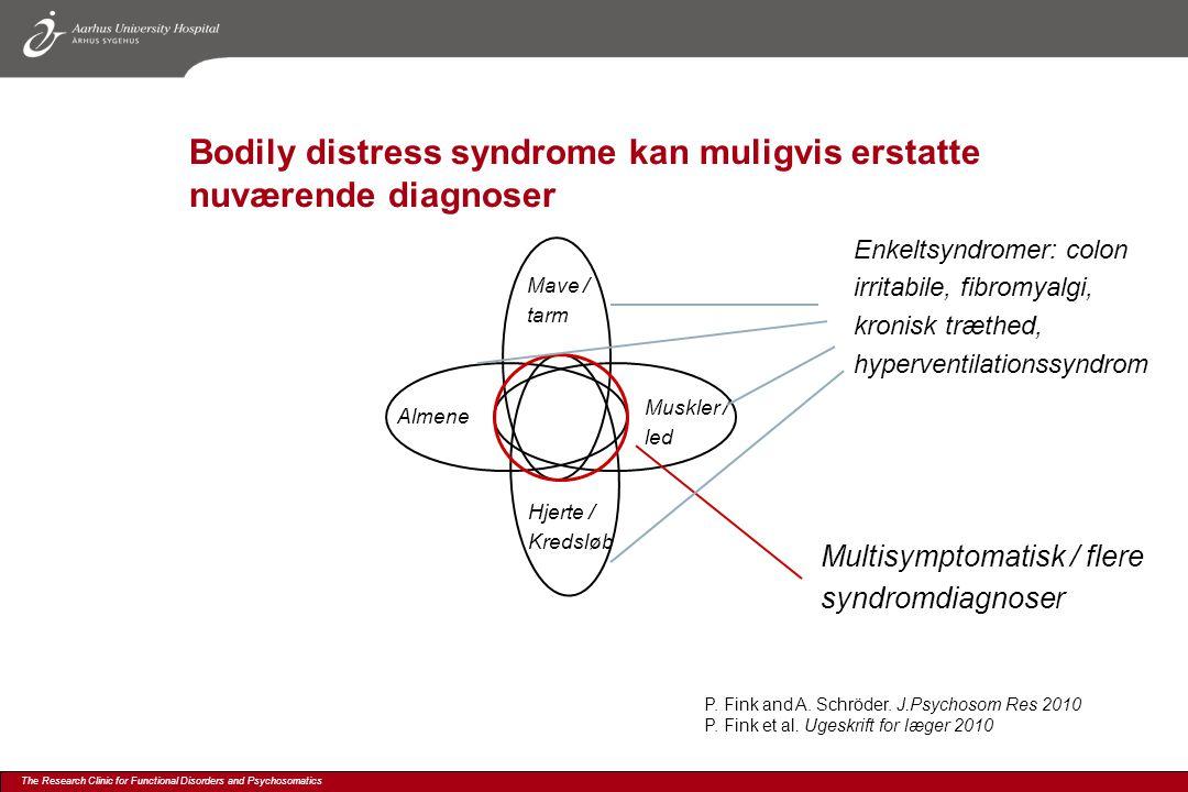 Bodily distress syndrome kan muligvis erstatte nuværende diagnoser