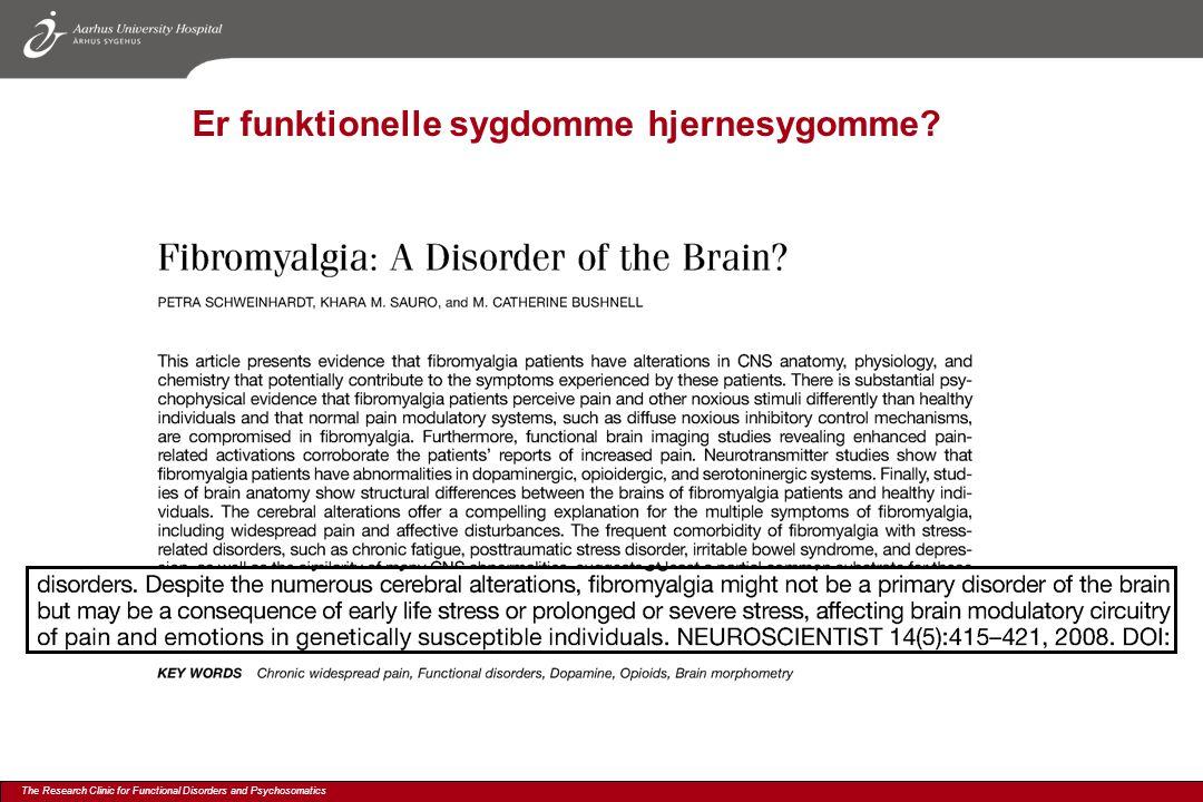 Er funktionelle sygdomme hjernesygomme