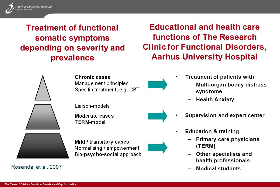 Educational and health care functions of The Research Clinic for Functional Disorders, Aarhus University Hospital