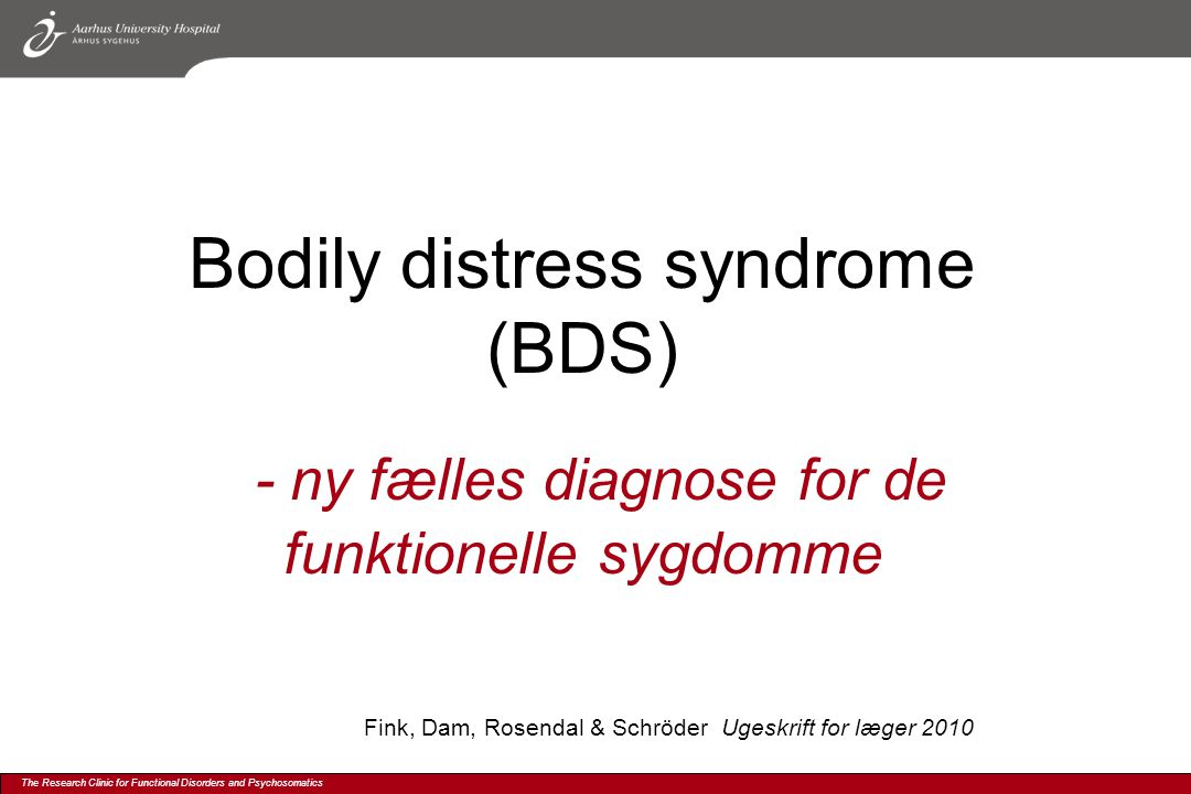 Bodily distress syndrome (BDS)