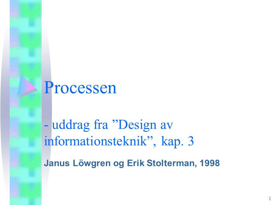 Processen - uddrag fra Design av informationsteknik , kap. 3