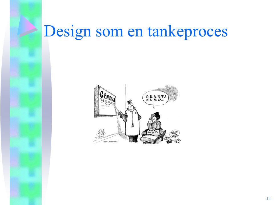 Design som en tankeproces