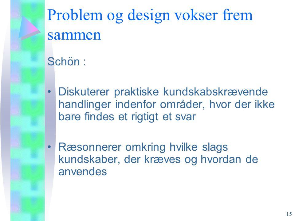 Problem og design vokser frem sammen