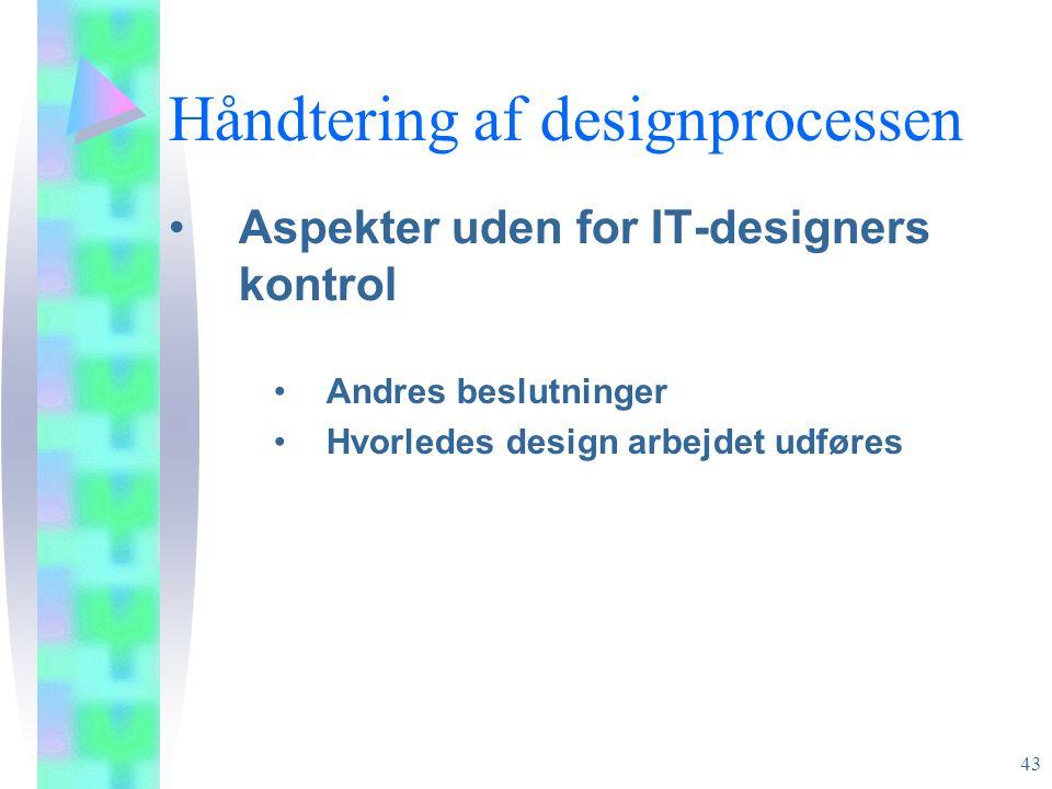 Håndtering af designprocessen