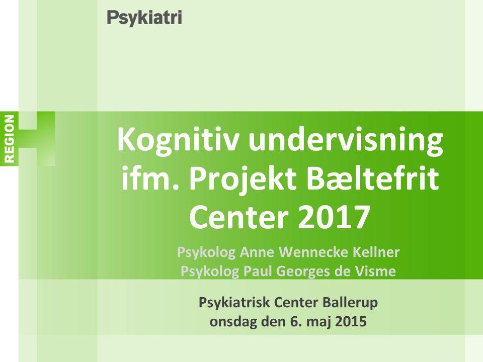 Kognitiv undervisning ifm. Projekt Bæltefrit Center 2017