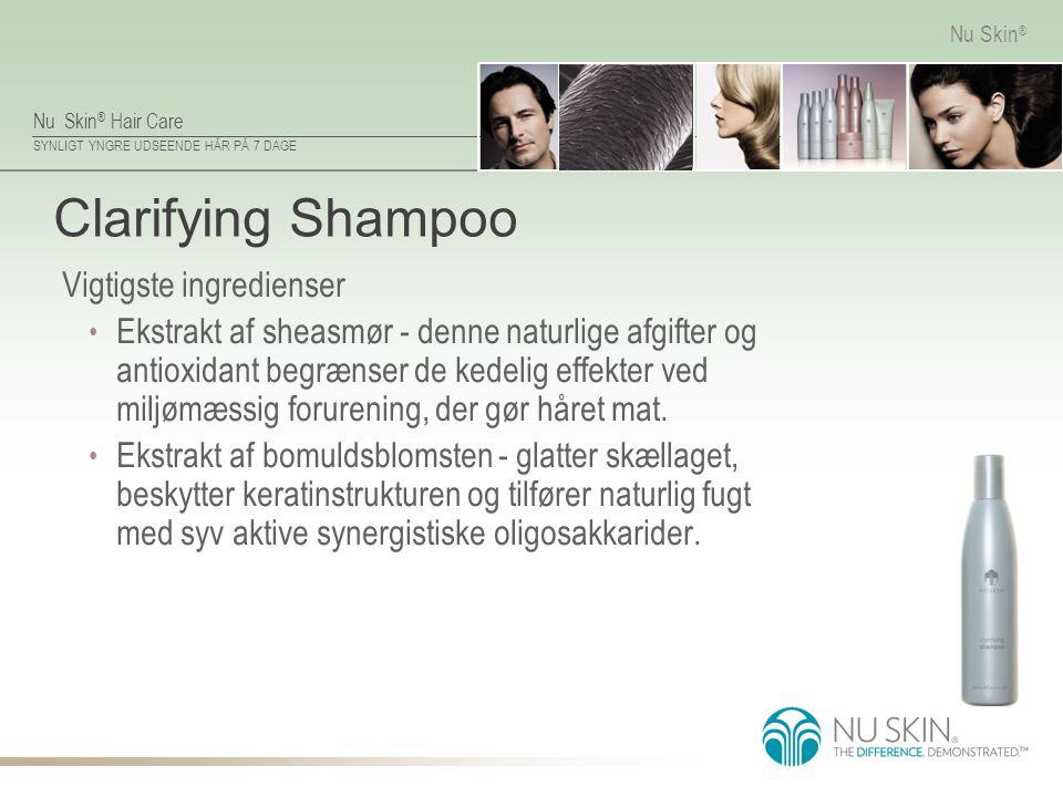 Clarifying Shampoo Vigtigste ingredienser