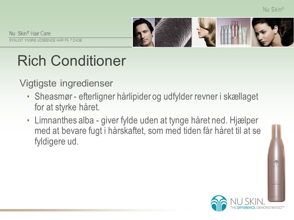 Rich Conditioner Vigtigste ingredienser