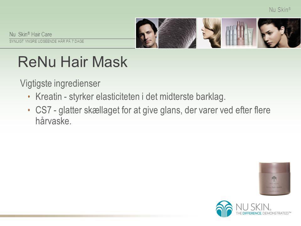 ReNu Hair Mask Vigtigste ingredienser