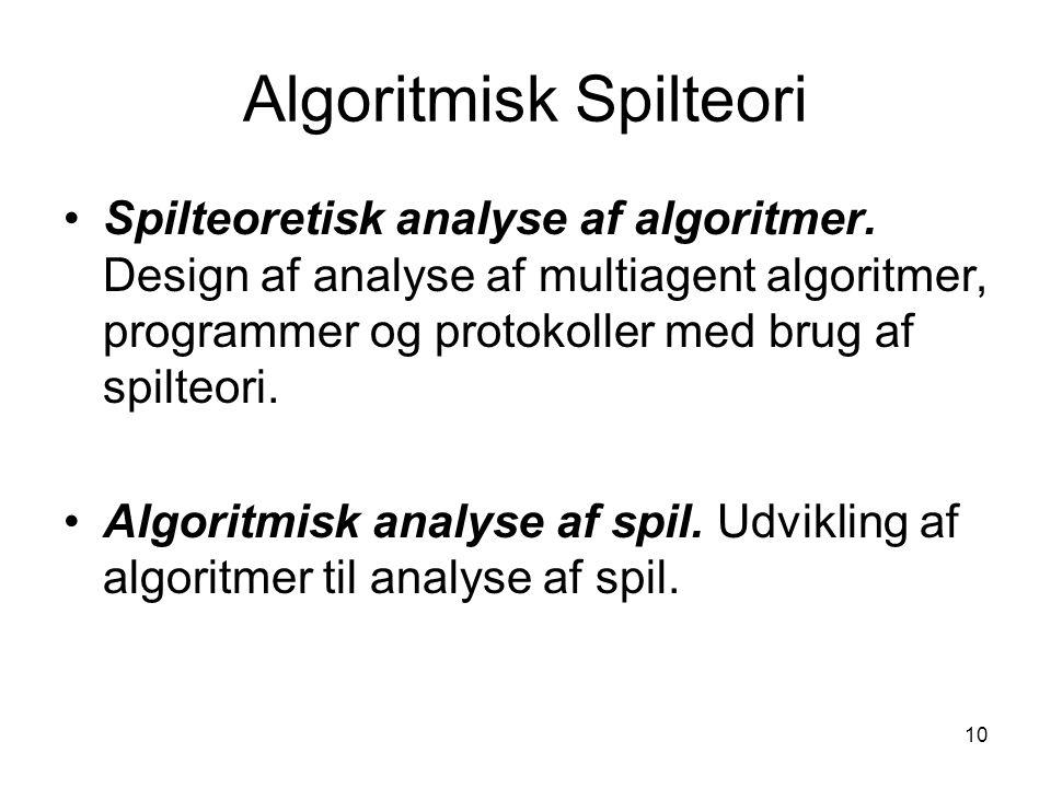 Algoritmisk Spilteori