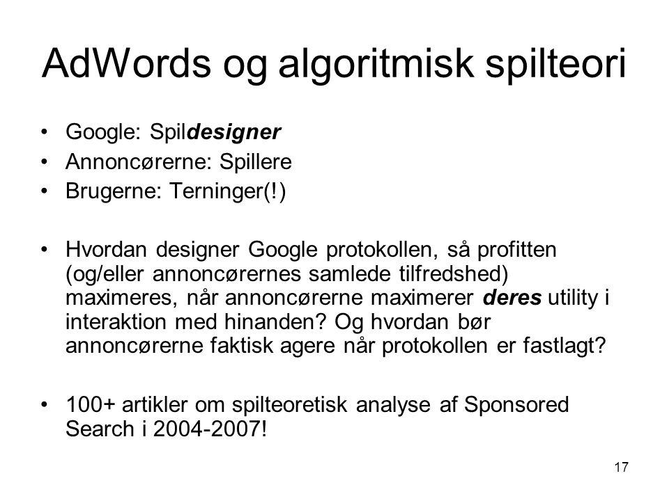 AdWords og algoritmisk spilteori