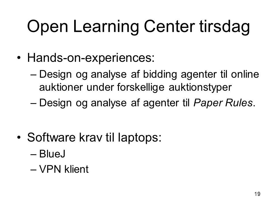 Open Learning Center tirsdag
