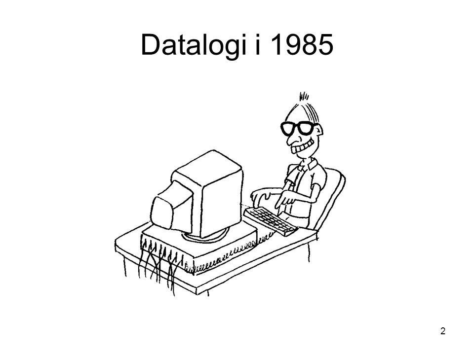 Datalogi i 1985