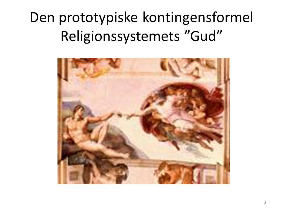 Den prototypiske kontingensformel Religionssystemets Gud