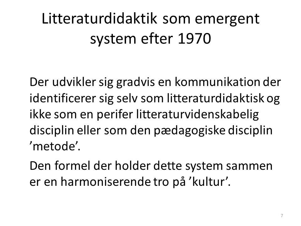 Litteraturdidaktik som emergent system efter 1970