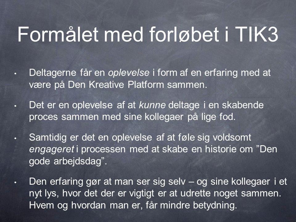 Formålet med forløbet i TIK3