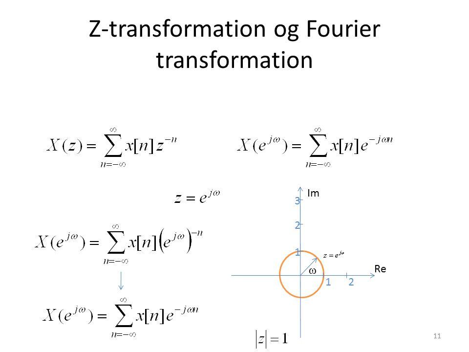 Z-transformation og Fourier transformation