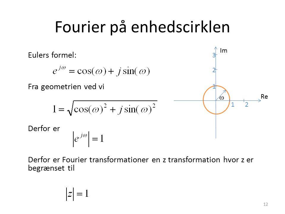 Fourier på enhedscirklen