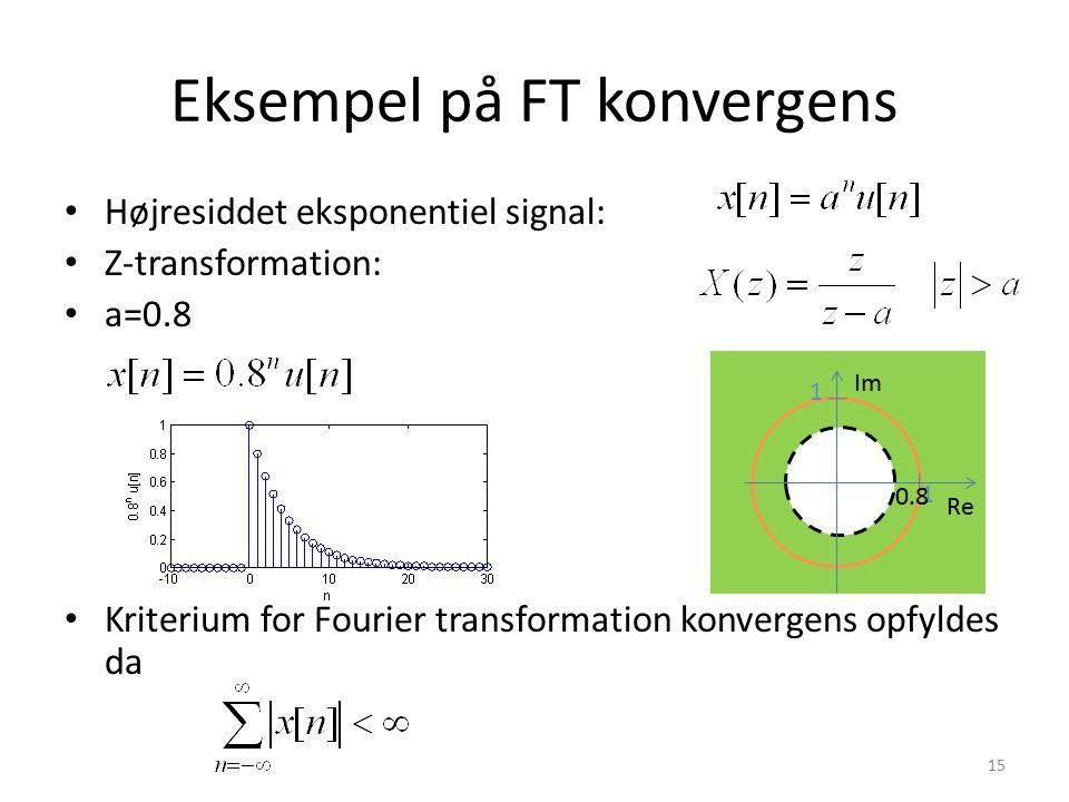 Eksempel på FT konvergens