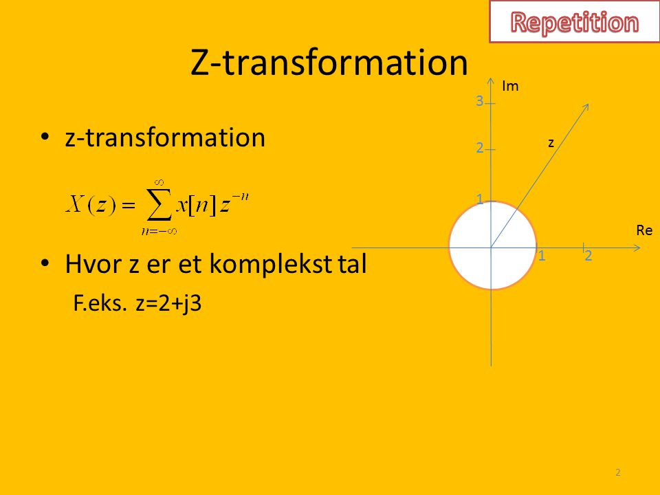 Z-transformation Repetition z-transformation
